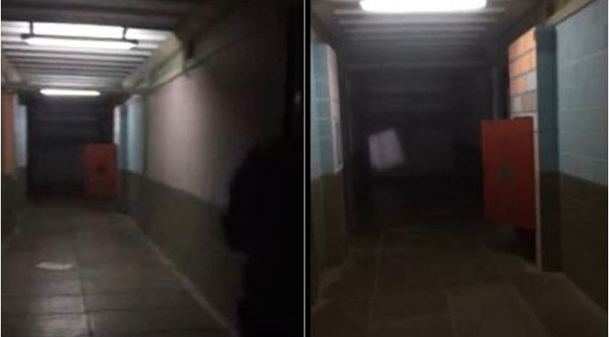 Creepy Footage Of Morgue Door Slamming By Itself