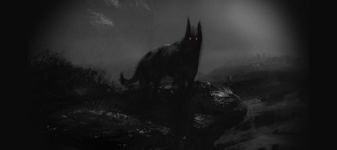 Evil Black Dogs In Bailey, Texas