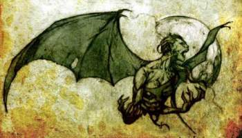 Bat-Like Flying Humanoid Spotted
