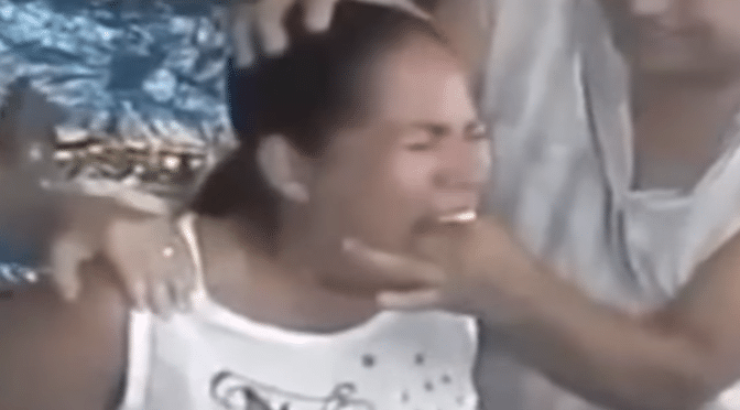 You won't believe what this witch doctor pulls out of her mouth