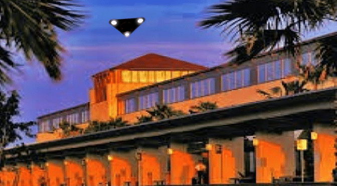 UFO over airport in McAllen, Texas